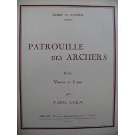 ETGEN Marcel Patrouille des Archers Violon Piano