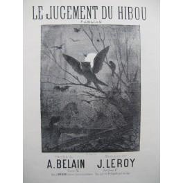 LEROY J. Le Jugement du Hibou Chant Piano ca1875