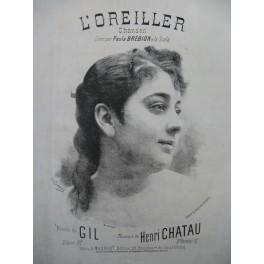 CHATAU Henri L'Oreiller Chant Piano XIXe siècle