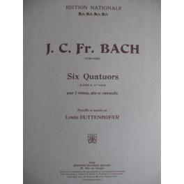 BACH Johann Christoph Friedrich 6 Quatuors vol 2