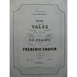 CHOPIN Frédéric Grande Valse op 18 Piano ca1850