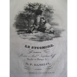HAMELIN N. P. Le Sycomore chant piano ca1850