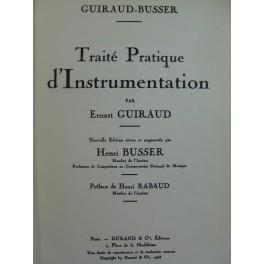 GUIRAUD E. BUSSER H. Traité d'Instrumentation 1946