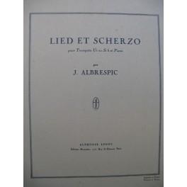 ALBRESPIC Jacques Lied et Scherzo Trompette Piano 1961