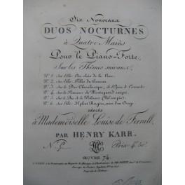 KARR Henry Duo Nocturne Duo de la Molinara Piano 4 mains ca1820