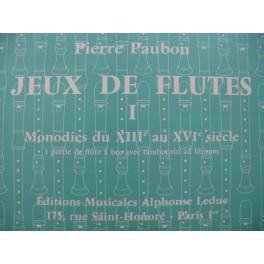 PAUBON Pierre Monodies du XIIIe au XVIe siècle Flûte à bec 1971