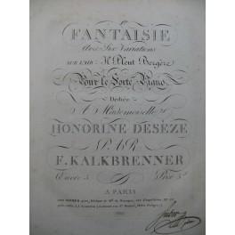 KALKBRENNER Frédéric Fantaisie No 1 Il Pleut Bergère Piano ca1820