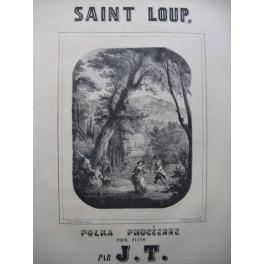 J. T. Saint Loup Polka Phocéenne Piano 4 mains XIXe