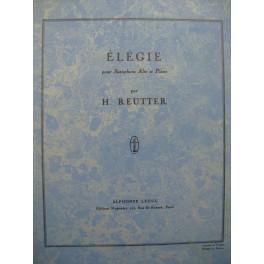 REUTTER Hermann Élégie Saxophone Piano 1957