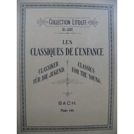 BACH J. S. Les Classiques de l'Enfance 30 Pièces Piano