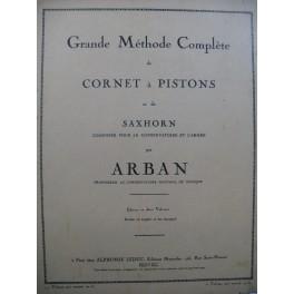 ARBAN Grande Méthode Complète de Cornet à Pistons et Saxhorn 1er Volume 1948