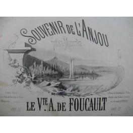 DE FOUCAULT A. Souvenir de l'Anjou Polka Mazurka Dédicace Piano ca1850