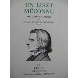 MONTU-BERTHON Suzanne Un Liszt Méconnu Vol 2 1981