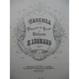 BEETHOVEN Cadenza pour le Concerto de Violon ca1880
