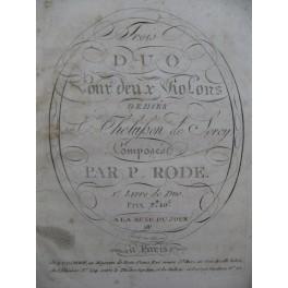 RODE Pierre Trois Duos 1er Livre pour 2 Violons 1796