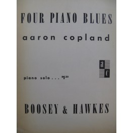 COPLAND Aaron Four Piano Blues Piano