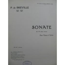 DE BRÉVILLE Pierre Sonate Violon Piano 1920