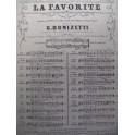 DONIZETTI Gaetano La Favorite Romance chant piano