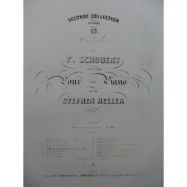 SCHUBERT Franz Les Plaintes de la Jeune Fille Piano ca1840
