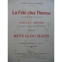 HAHN Reynaldo La Fête chez Thérèse Ballet 1910
