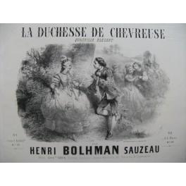 BOLHMAN SAUZEAU Henri La Duchesse de Chevreuse Piano ca1850