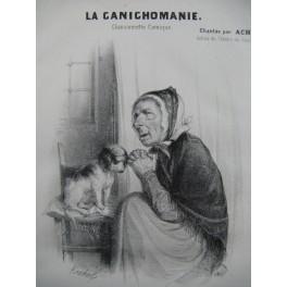LA CANICHOMANIE Illustration XIXe siècle