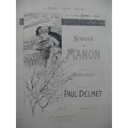 DELMET Paul Stances à Manon Chant Piano 1932