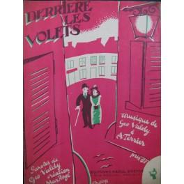 VALDY Géo & A. TERRIER Derrière les Volets Chant Piano 1924