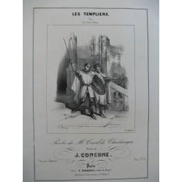 CONCONE Joseph Les Templiers Chant Piano ca1845