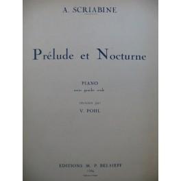 SCRIABINE Alexandre Prélude et Nocturne Piano 1946