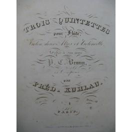 KUHLAU Frédéric Quintette op 51 Flûte Violon Alto Violoncelle ca1830