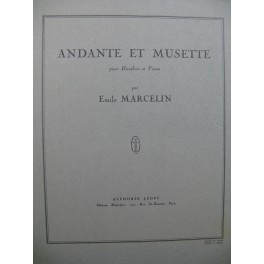 MARCELIN Emile Andante et Musette Piano Hautbois 1953