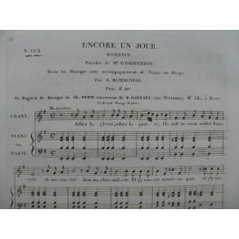 ROMAGNESI Antoine Encore un Jour Chant Piano ou Harpe ca1830