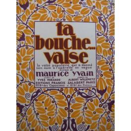 YVAIN Maurice Ta Bouche Piano 1922