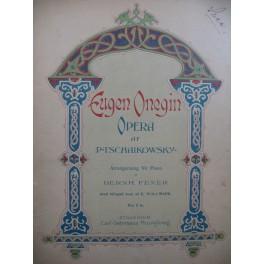 TSCHAIKOWSKY P. Eugen Onegin Opéra Piano