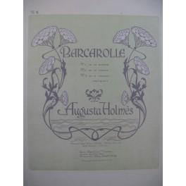 HOLMES Augusta Barcarolle Chant Piano 1900