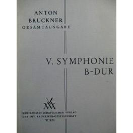 BRUCKNER Anton Symphonie No 5 B dur Orchestre 1951