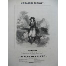 DE FELTRE Alphonse Grandie Chant Piano ca1843