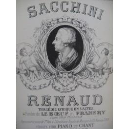 SACCHINI Antonio Renaud Opéra Chant Piano ca1880