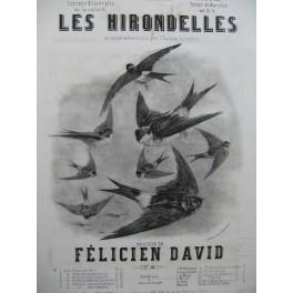 DAVID Félicien Les Hirondelles Chant Piano XIXe siècle