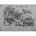 STRAUSS Edouard Que la Vie est Belle Valse Piano ca1880