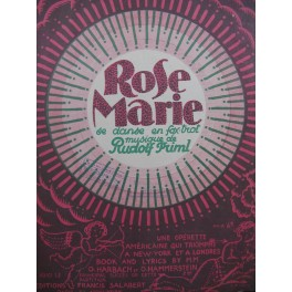 FRIML Rudolf Rose Marie Chant Piano 1925