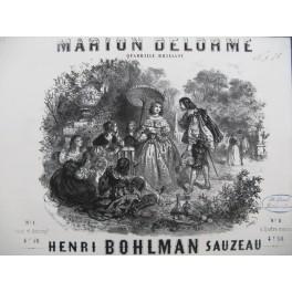 BOHLMAN SAUZEAU Henri Marion Delorme Piano ca1850
