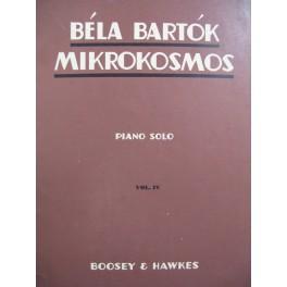 BARTOK Béla Mikrokosmos Vol IV Piano