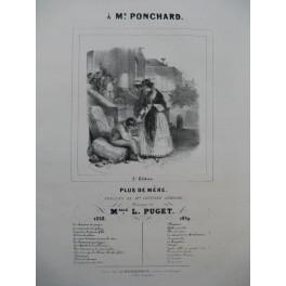 PUGET Loïsa Plus de Mère Chant Piano 1839