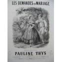THYS Pauline Les Demandes en Mariages Chant Piano ca1850