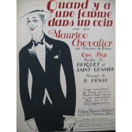 PENSO R. Quand y a une femme dans un coin Chant Piano 1919