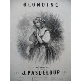 PASDELOUP J. Blondine Piano ca1850