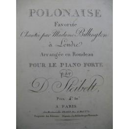 STEIBELT Daniel Polonaise Favorite Piano ca1810