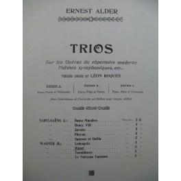 ROQUES Léon Trio sur Rienzi de Wagner Piano Violon Violoncelle 1906